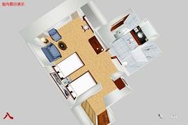flash3d三维户型展示-酒店房型展示(双人房)